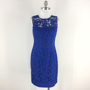 Kay Unger S 6 Royal Cobalt Blue Lace dress Formal
